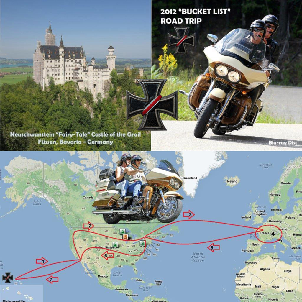 2012 Bucket List Motorcycle Road trip on our 2011 Harley-Davidson Road Glide CVO
