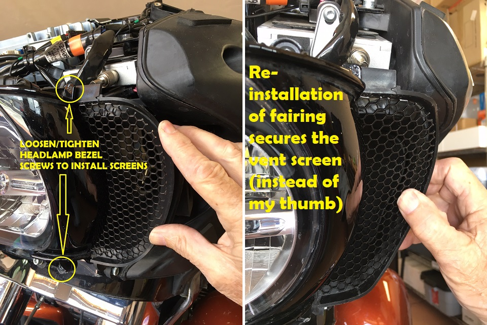 ROAD GLIDE Side SPLITSCREENS Installation Tips