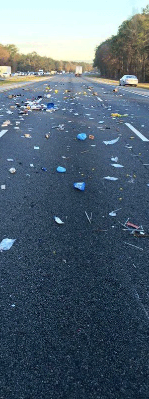 Debris on Roadway