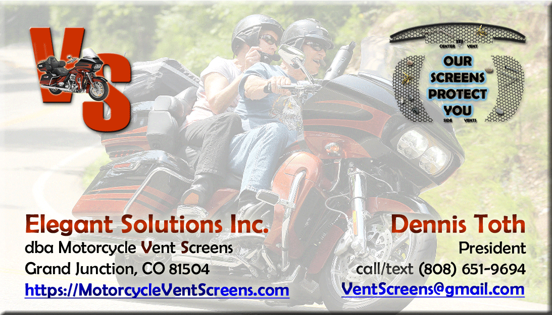 Contact Elegant Solutions Inc. dba Motorcycle Vent Screens