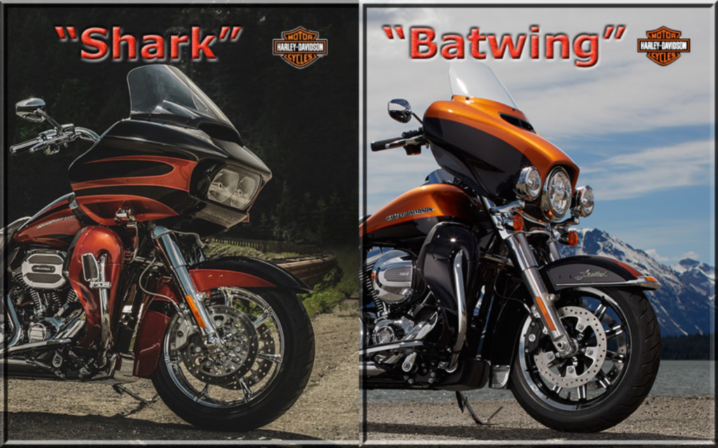 Motorcycle Vent Screens - SPLITSCREENS for the ROAD GLIDE and Batwing Touring Bikes