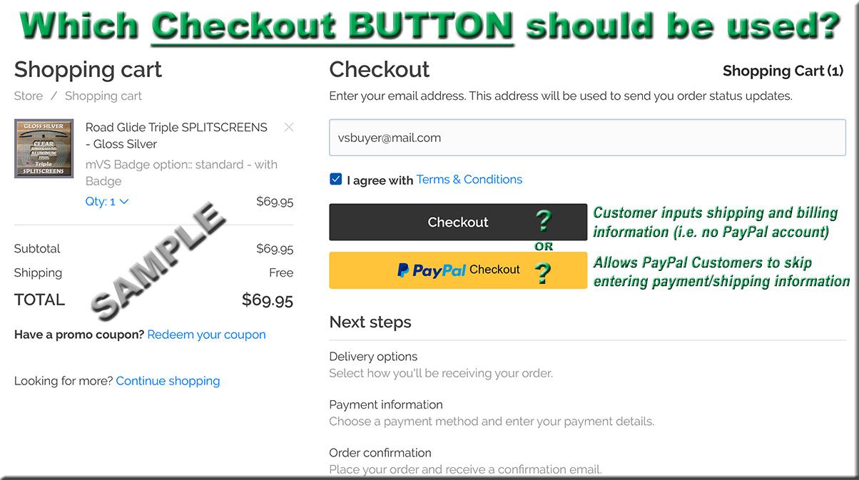 Sample Checkout Process
